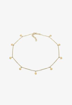 GEO KREIS BASIC MATT COIN - Necklace - gold-coloured