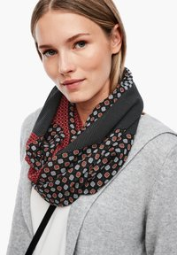 s.Oliver - Snood - black aop - 1