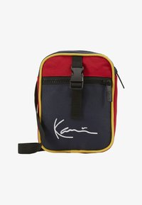 KK SIGNATURE BLOCK MESSENGER BAG - Across body bag - navy/red/yellow/red