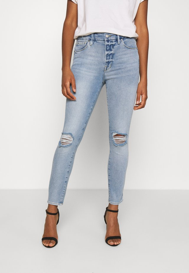 LEGS CROP - Skinny džíny - blue