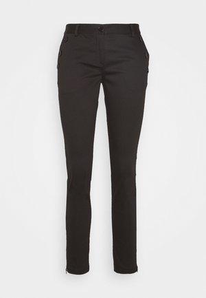 SANSAH ZIPIT - Trousers - black