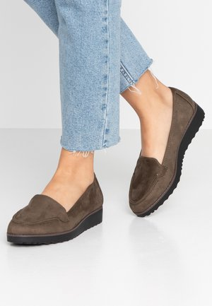 WIDE FIT FLATFORM LOAFER - Slip-ons - khaki