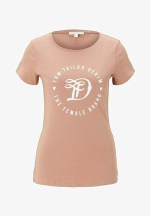 MIT PRINT - Print T-shirt - clay rose