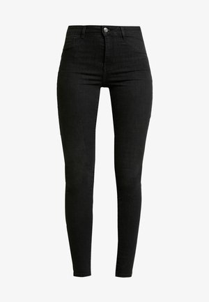 HIGHWAIST - Jeansy Skinny Fit - off black