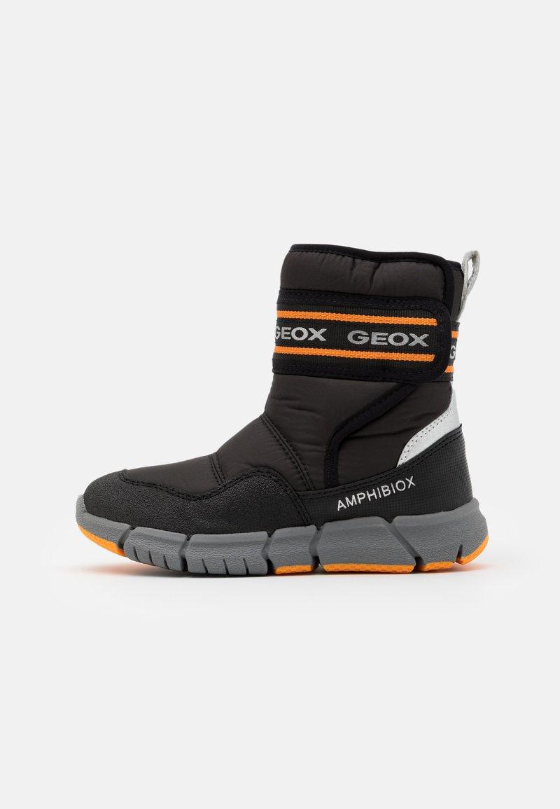 Geox - FLEXYPER BOY ABX - Winter boots - black/orange