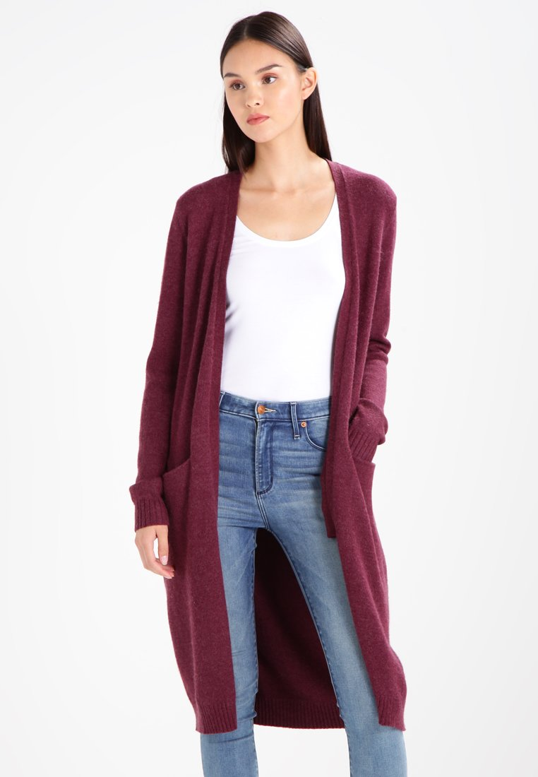 Vila - VIRIL LONG CARDIGAN  - Cardigan - fig/melange