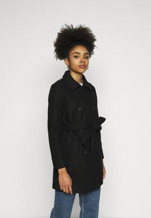 ONLSANSA COAT - Klasický kabát - black