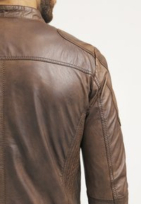 Freaky Nation - DAVIDSON - Leather jacket - wood - 5