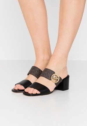 SUMMER MID - Heeled mules - black