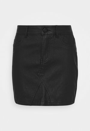 ONLROSIE SKIRT - Leather skirt - black