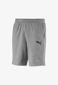Puma - ESSENTILAS - Shorts - medium gray heather-cat - 0