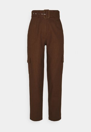 YASRIPLY CROPPED PANT ICON - Broek - tortoise shell