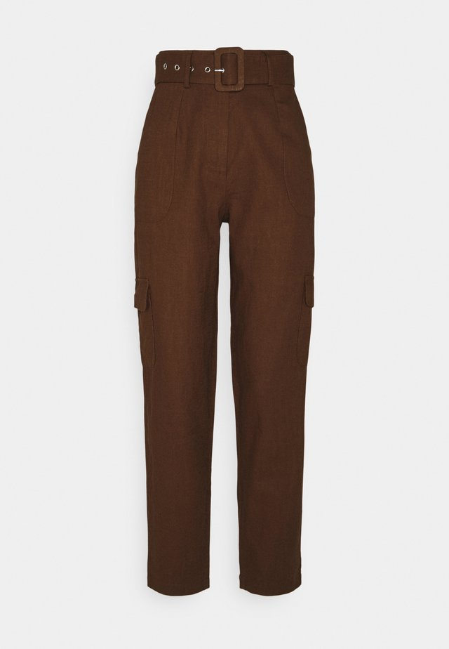 YASRIPLY CROPPED PANT ICON - Trousers - tortoise shell
