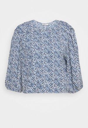 ONLSHAKIRA - Long sleeved top - cloud dancer/blue ditsy