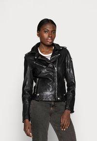 Gipsy - FAMOS - Leather jacket - black - 0
