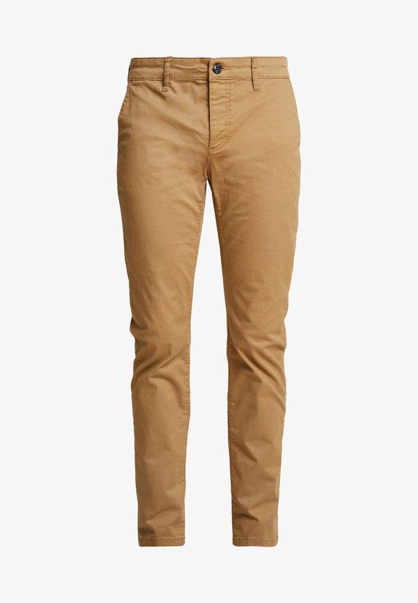 Pier One Chinosy - beige/beżowy Odzież Męska WOKT