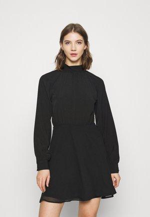 HIGH NECK TIE DRESS - Cocktail dress / Party dress - black