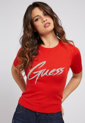 LOGO VOORKANT - T-shirt print - rot