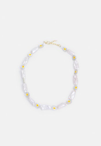 DAISY GEENIE IN A BOTTLE - Necklace - white/yellow