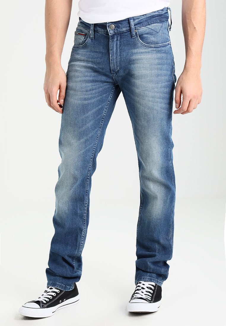 Tommy Jeans - ORIGINAL RYAN BEMB - Straight leg jeans - berry mid blue comfort