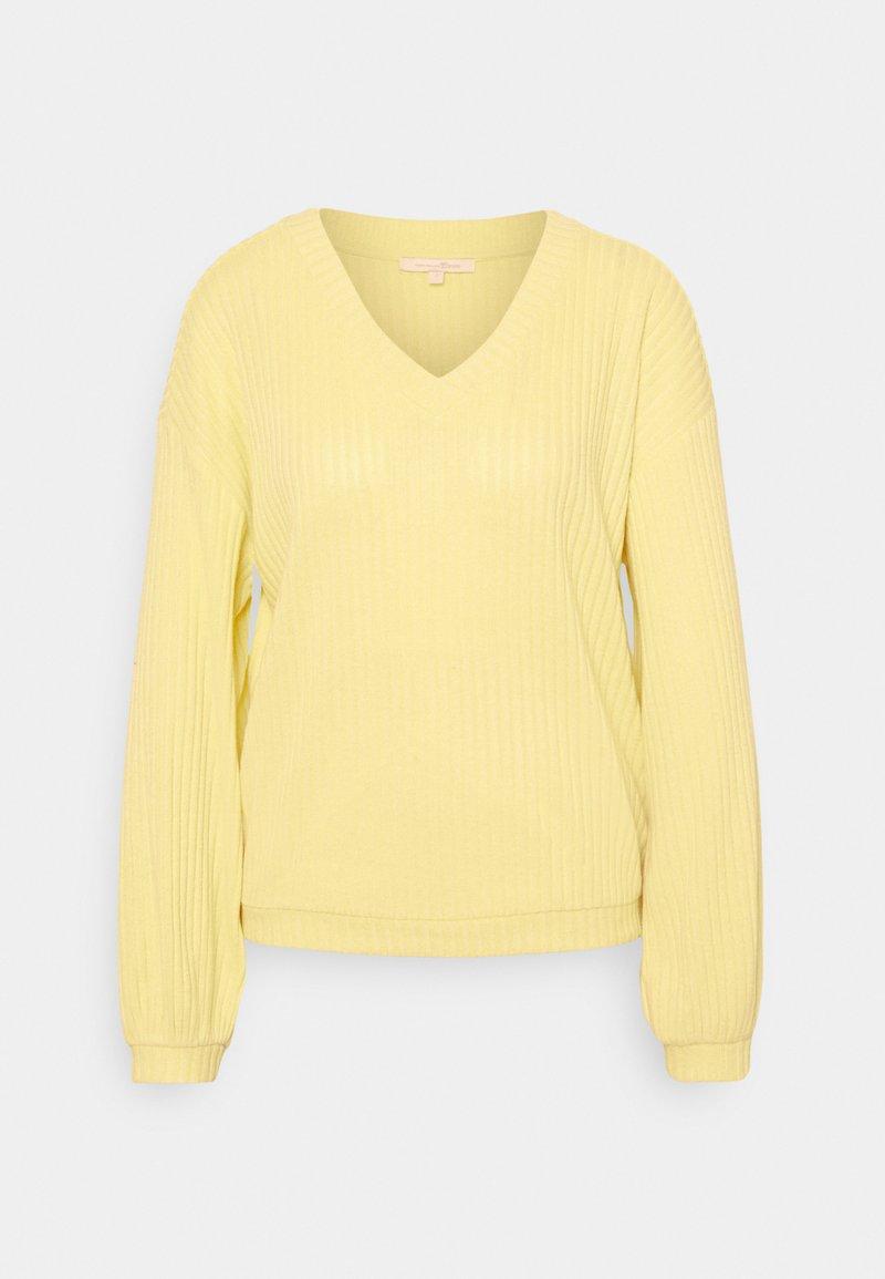 TOM TAILOR DENIM - Jumper - soft yellow