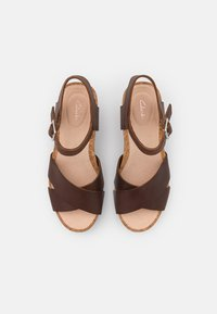 Clarks - FLEX SUN - Wedge sandals - tan - 5