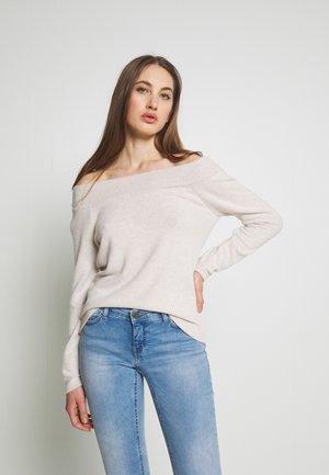 ONLMAYE OFF - Pullover - hazelnut/white