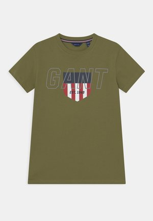 SPORTY SHIELD - T-shirt con stampa - olive branch green