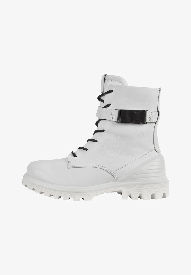 TREDTRAY W MID-CUT - Lace-up boots - bright white