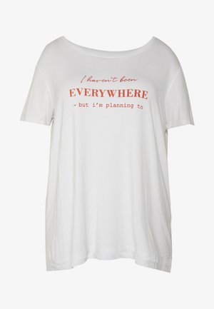 CARHIKING IN ONE TEE - Print T-shirt - bright white