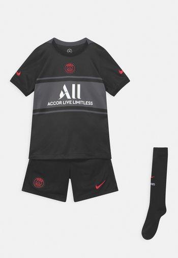 PARIS ST. GERMAIN SET UNISEX - Club wear - black/dark grey/white/siren red