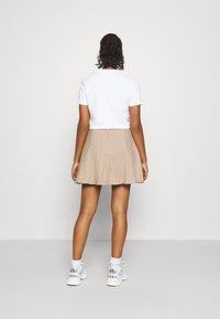 Monki - ULLA SKIRT - A-line skirt - beige - 2