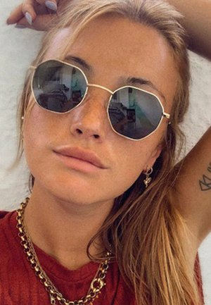 ENDO - Sunglasses - gold olive