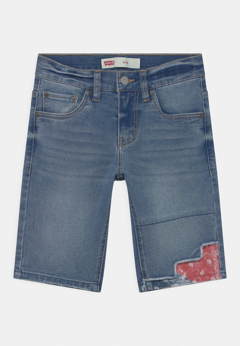 Levi's® - SLIM FIT ECO FLEX  - Denim shorts - dark blue denim