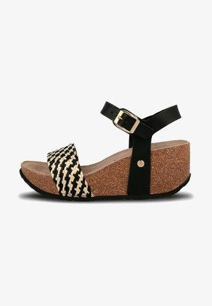 MONACO - Sandalen met sleehak - schwarz