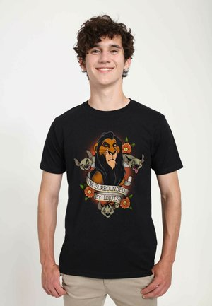 DISNEY UNISEX SURROUNDED  - T-shirt print - black