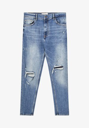 Jeans Skinny Fit - mottled blue