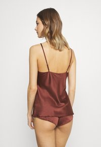 LingaDore - TOP WITH FRENCH KNICKERS SET - Pyjama set - sable - 2