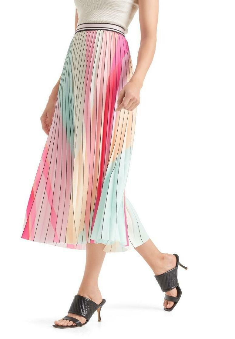 Marc Cain - MIT PLISSEES - A-line skirt - multi-coloured