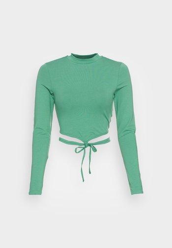 Topper langermet - green