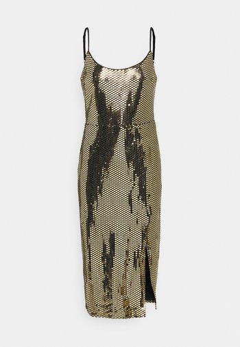 STRAPPY MIDI DRESS - Cocktail dress / Party dress - gold