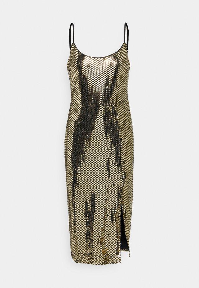 STRAPPY  MIDI DRESS - Cocktail dress / Party dress - black