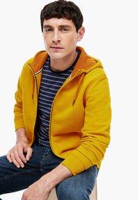 s.Oliver - LANGARM - Zip-up sweatshirt - yellow - 6