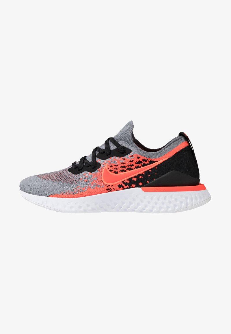 Nike Performance - EPIC REACT FLYKNIT  - Hardloopschoenen neutraal - cool grey/bright crimson/black/white