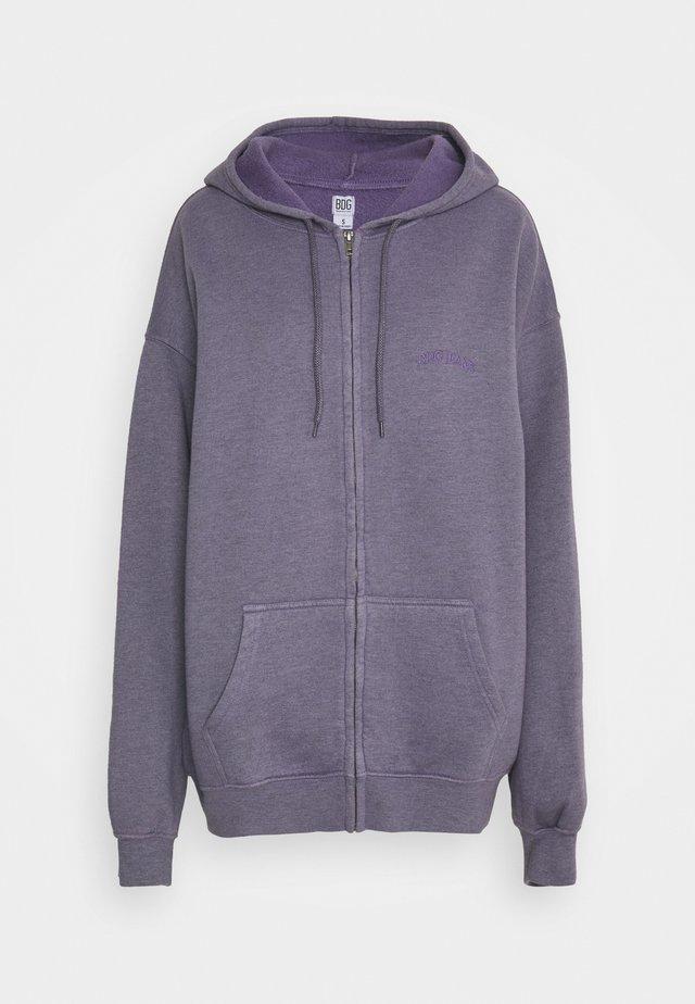 ZIP THROUGH HOODIE - veste en sweat zippée - lilac
