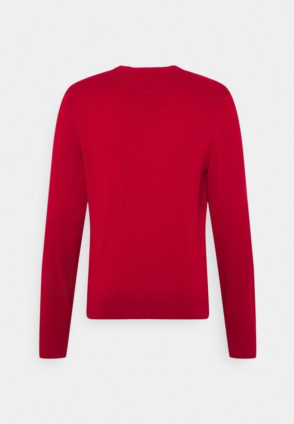 Tommy Hilfiger BLEND CREW NECK - Sweter - primary red/czerwony Odzież Męska WECN