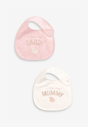 2 PACK MUMMY AND DADDY BUNNY - Bavaglino - pink