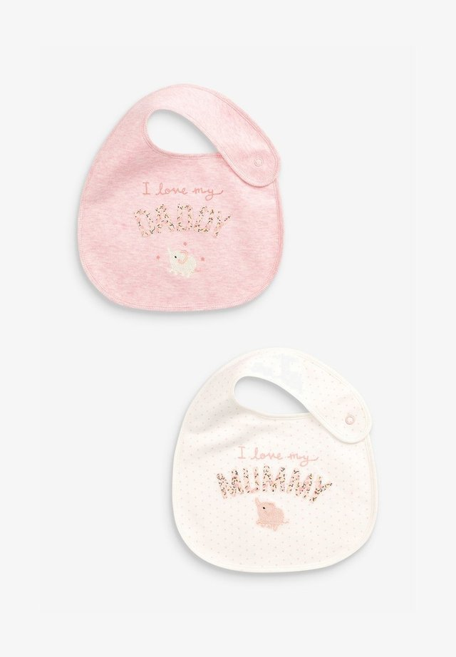 2 PACK MUMMY AND DADDY BUNNY - Bib - pink