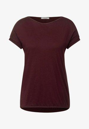 MIT U-BOOT AUSSCHNITT - Basic T-shirt - rot