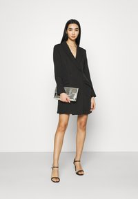 Missguided - BUTTON SIDE BLAZER DRESS - Shift dress - black - 1